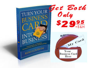 Book and Business Card Caddie
