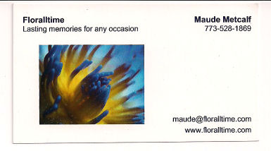 Maude business card